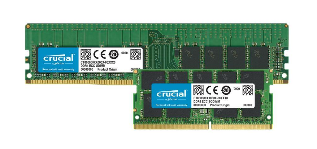 Moduli di memoria Crucial ECC DDR4