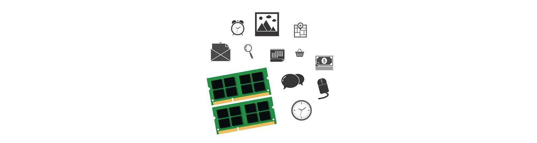 Parti del computer e icone social