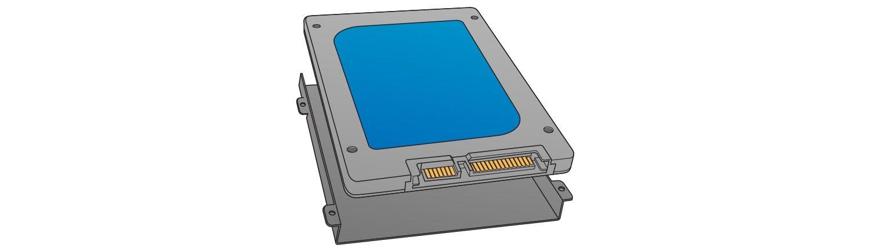 Individuare il bay di archiviazione per installare l'SSD.
