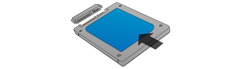 Non forzare il collegamento quando si installa l'SSD.