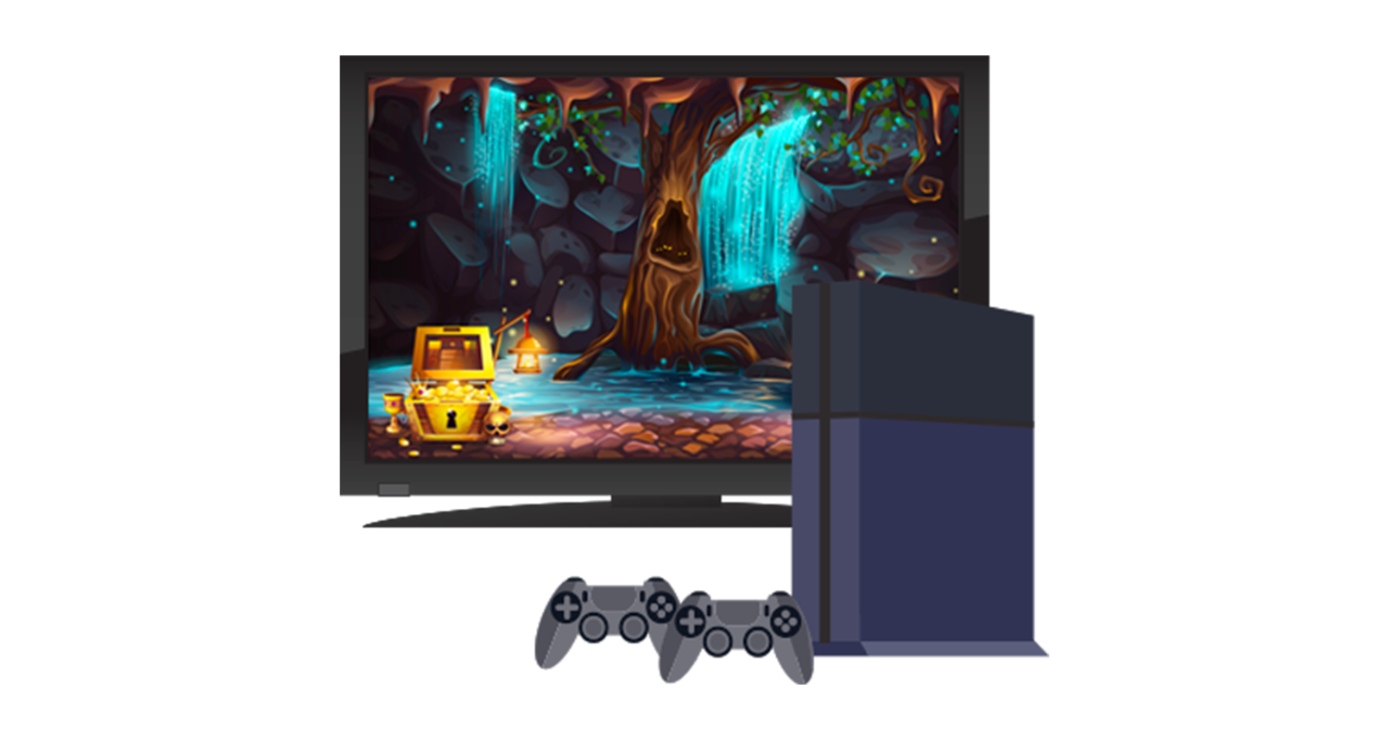 Console e monitor tv da gaming