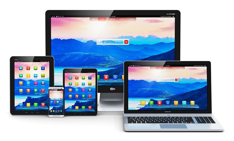 Computer fisso, computer portatile, tablet e telefono