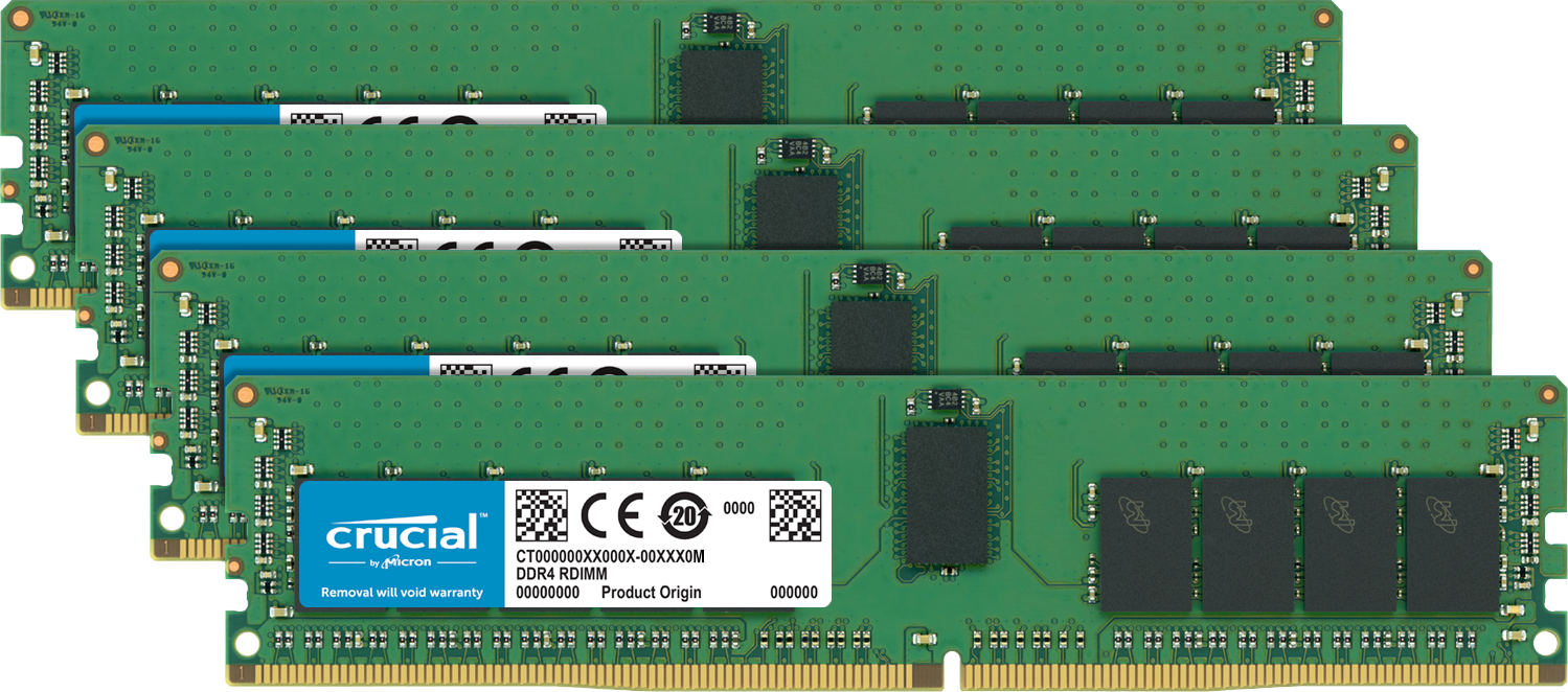 Memoria Crucial (RAM) di un computer.